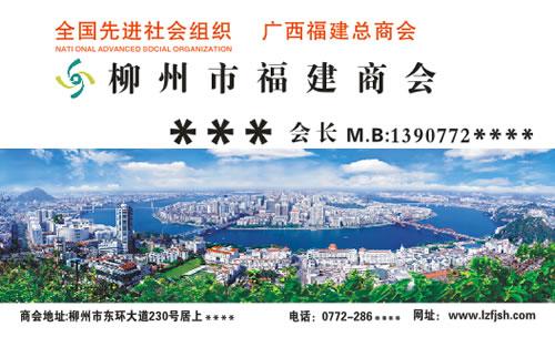 柳州市福建商会名片模板