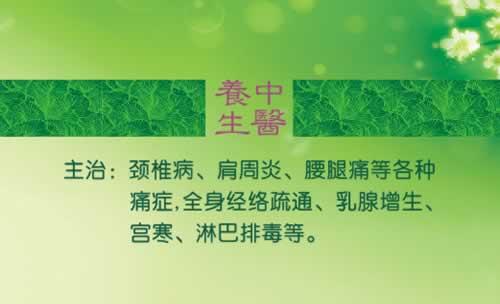 中医养生名片_中医养生上门服务团队名片模板